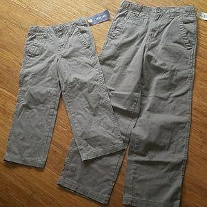 Cherokee boys deer khaki pants brothers new 4 12